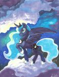 Princess Luna in Marker by lizspit