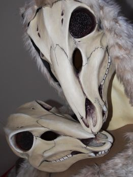 Deer Skull Mask - PAINTED by Bueshang