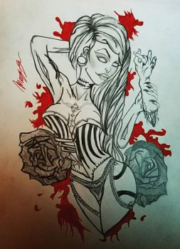 Zombie Girl by NurseRached