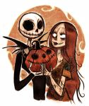 Jack_Sally_pumpkin by ElisEiZ