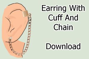 Earring With Cuff And Chain Download by MissingPixieSticks