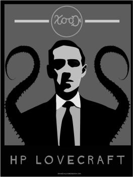 HP Lovecraft - vector by ShaneGallagher