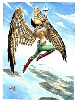 Ed Tadeo: Hawkgirl by comiconart