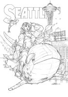 Seattle Print Pencils by TerryDodson