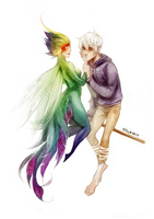 Jack Frost and Tooth fairy by Hi-Ku