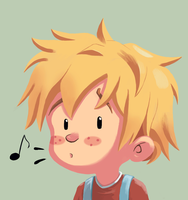 Whistling Boy by Laughe