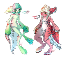 Mothling 03 Auction: Watermelon and Strawberry [O] by ChamomileCandy