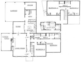 Architectural Floor Plan by sneaky-chileno