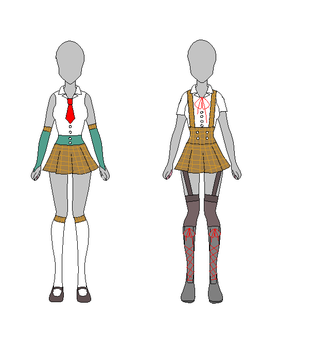School Girl Outift Designs 1 by Sonic-Tube