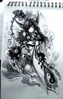 Ink Pen and water Sketch by Ruri-dere