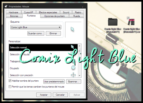 Cursores Comix Light Blue by iTutorialsYT by iTutorialsYT