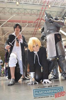 Ling Yao, Edward Elric, and Alphonse Elric by lolabrum