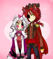 Foxy and Mangle by ShweezyLiz