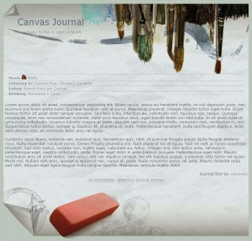 Canvas Journal by Anexos