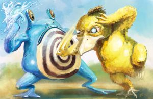 Psyduck vs. Poliwhirl