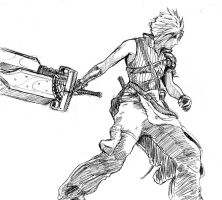 cloud final fantasy seven coloring pages | Cloud Strife-Unleashed by arvalis on DeviantArt