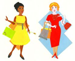 Shopping duo by Liliana-Claire