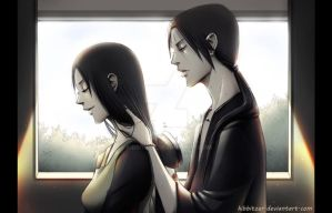 Itachi and Mikoto Uchiha by Kibbitzer