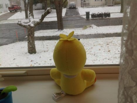 Chica sees snow for the first time by Yubel198
