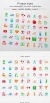 Fitness Icons by ottoson