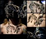 Bridal Steampunk Necklace by NikidaEve