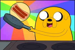 Making Bacon Pancakes by X-BlackPearl-X