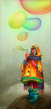 bubbles of color by loish