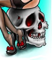 unfinished closeup of skull by dv8ordeath