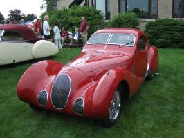 1937 Talbot-Lago T150C SS Teardrop Coupe Front by Aya-Wavedancer