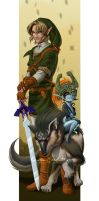 Twilight Princess Link + Midna by KrisCynical