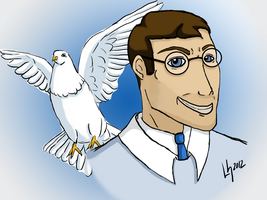 TF2: Medic and his Dove by Ryanis