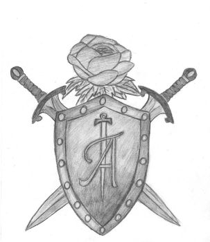 shield-swords-and a rose by Eviilyn