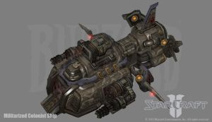 Terran Militarized Colonist Ship by PhillGonzo