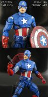 Custom Avengers Promo Art Captain America figure by Jin-Saotome