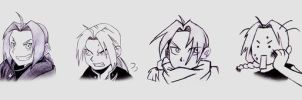 Edward Elric - Facial Study by Lilixilon