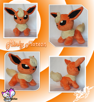 MINKY Flareon Plushie #2 :Sold: by Ami-Plushies