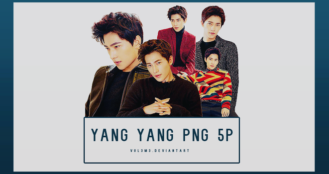 Yang Yang lifestyle 5P PNG by vul3m3