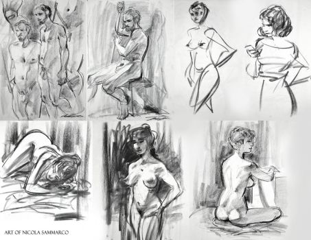 Figure drawings by nicolasammarco