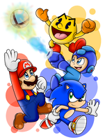 Four Videogame Legends... One Game by SuperLakitu