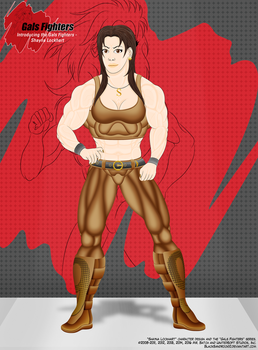 Introducing the Gals Fighters No.1 - Shayna by BlackSandrock10
