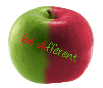 Green Red Apple - Be Different by Privileg13