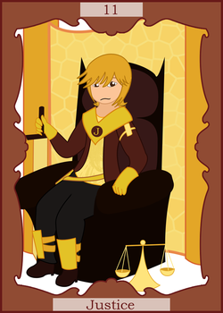 Jumpe Tarot: Justice by Pellimore