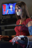 Jordana Brewster Chair Tied and Tape Gagged by Goldy0123