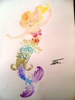 Rainbow Mermaid by NienorGreenfield