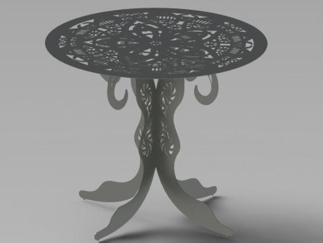 Ornamental Round Table- DXF Files cut ready by DXFforCNC