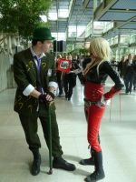 Riddler and Harley by HUNK-42