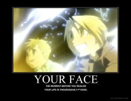 Your face by styxscreamer