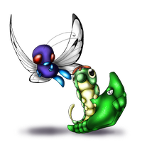 Caterpie and evos