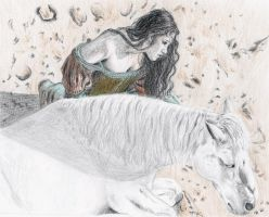 Snow White and her horse by sourcherry1