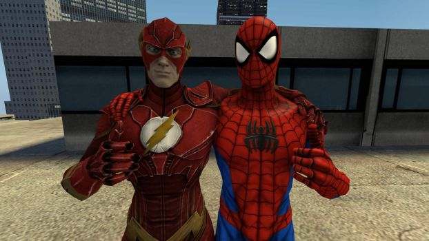 The Flash and Spider-Man team up by kongzillarex619